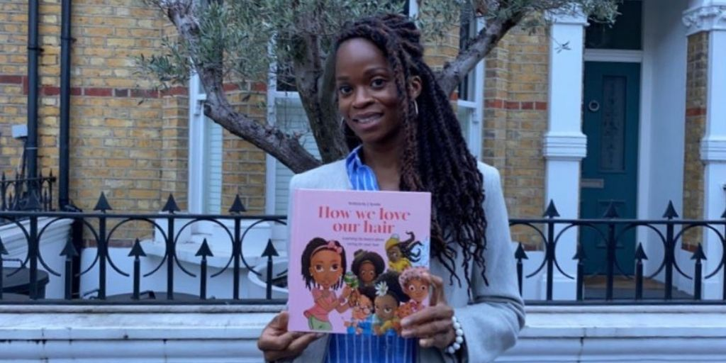 Jokae Ayoola debut author with her picture book How We Love Our Hair